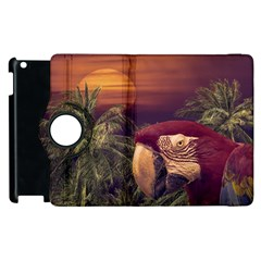 Tropical Style Collage Design Poster Apple iPad 3/4 Flip 360 Case