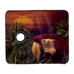 Tropical Style Collage Design Poster Galaxy S3 (Flip/Folio)