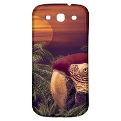 Tropical Style Collage Design Poster Samsung Galaxy S3 S III Classic Hardshell Back Case
