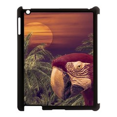 Tropical Style Collage Design Poster Apple iPad 3/4 Case (Black)
