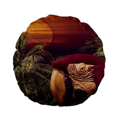 Tropical Style Collage Design Poster Standard 15  Premium Round Cushions