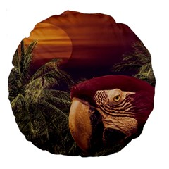 Tropical Style Collage Design Poster Large 18  Premium Round Cushions