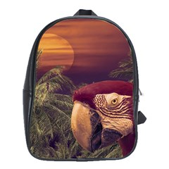 Tropical Style Collage Design Poster School Bags (XL)