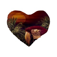 Tropical Style Collage Design Poster Standard 16  Premium Heart Shape Cushions