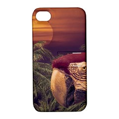 Tropical Style Collage Design Poster Apple iPhone 4/4S Hardshell Case with Stand