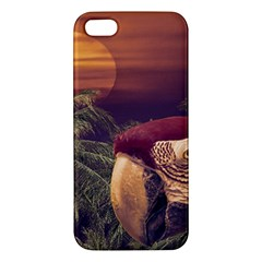 Tropical Style Collage Design Poster Apple iPhone 5 Premium Hardshell Case