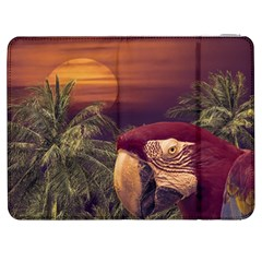 Tropical Style Collage Design Poster Samsung Galaxy Tab 7  P1000 Flip Case
