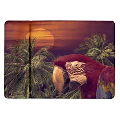 Tropical Style Collage Design Poster Samsung Galaxy Tab 10.1  P7500 Flip Case