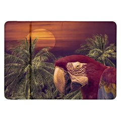 Tropical Style Collage Design Poster Samsung Galaxy Tab 8.9  P7300 Flip Case