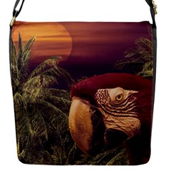 Tropical Style Collage Design Poster Flap Messenger Bag (S)