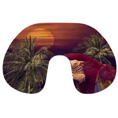 Tropical Style Collage Design Poster Travel Neck Pillows