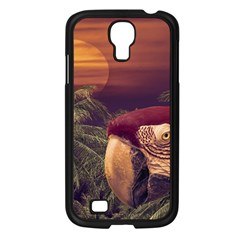 Tropical Style Collage Design Poster Samsung Galaxy S4 I9500/ I9505 Case (Black)