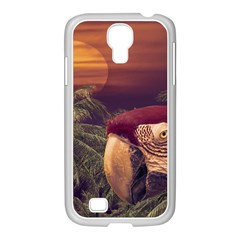 Tropical Style Collage Design Poster Samsung GALAXY S4 I9500/ I9505 Case (White)