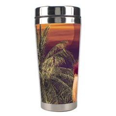 Tropical Style Collage Design Poster Stainless Steel Travel Tumblers