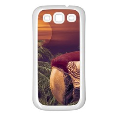 Tropical Style Collage Design Poster Samsung Galaxy S3 Back Case (White)