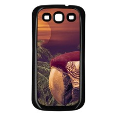 Tropical Style Collage Design Poster Samsung Galaxy S3 Back Case (Black)