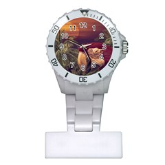 Tropical Style Collage Design Poster Plastic Nurses Watch