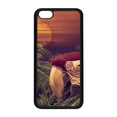 Tropical Style Collage Design Poster Apple iPhone 5C Seamless Case (Black)