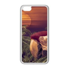 Tropical Style Collage Design Poster Apple iPhone 5C Seamless Case (White)