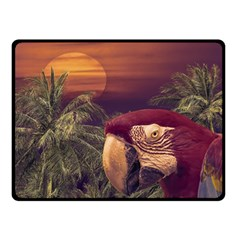 Tropical Style Collage Design Poster Double Sided Fleece Blanket (Small)