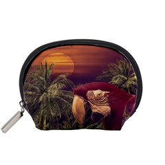 Tropical Style Collage Design Poster Accessory Pouches (small)