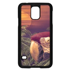 Tropical Style Collage Design Poster Samsung Galaxy S5 Case (Black)