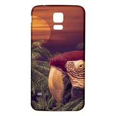 Tropical Style Collage Design Poster Samsung Galaxy S5 Back Case (White)