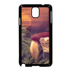 Tropical Style Collage Design Poster Samsung Galaxy Note 3 Neo Hardshell Case (Black)