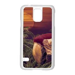 Tropical Style Collage Design Poster Samsung Galaxy S5 Case (White)