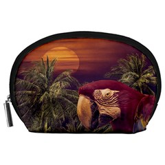 Tropical Style Collage Design Poster Accessory Pouches (Large)
