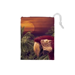 Tropical Style Collage Design Poster Drawstring Pouches (Small)