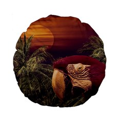 Tropical Style Collage Design Poster Standard 15  Premium Flano Round Cushions