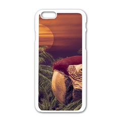 Tropical Style Collage Design Poster Apple iPhone 6/6S White Enamel Case