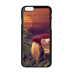 Tropical Style Collage Design Poster Apple iPhone 6/6S Black Enamel Case