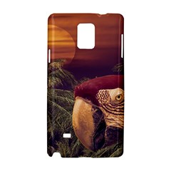 Tropical Style Collage Design Poster Samsung Galaxy Note 4 Hardshell Case