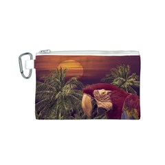 Tropical Style Collage Design Poster Canvas Cosmetic Bag (S)