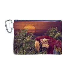 Tropical Style Collage Design Poster Canvas Cosmetic Bag (M)
