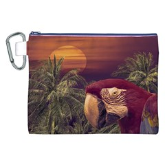 Tropical Style Collage Design Poster Canvas Cosmetic Bag (XXL)