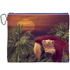 Tropical Style Collage Design Poster Canvas Cosmetic Bag (XXXL)