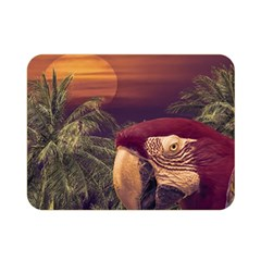 Tropical Style Collage Design Poster Double Sided Flano Blanket (Mini)