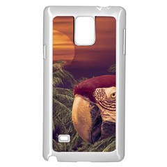 Tropical Style Collage Design Poster Samsung Galaxy Note 4 Case (White)