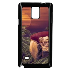 Tropical Style Collage Design Poster Samsung Galaxy Note 4 Case (Black)