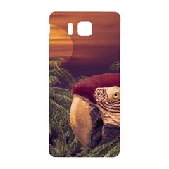 Tropical Style Collage Design Poster Samsung Galaxy Alpha Hardshell Back Case