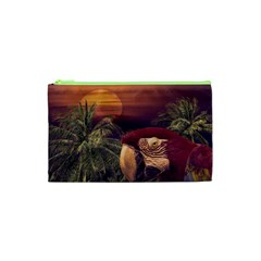 Tropical Style Collage Design Poster Cosmetic Bag (XS)