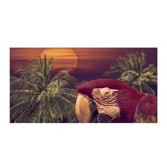 Tropical Style Collage Design Poster Satin Wrap