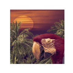 Tropical Style Collage Design Poster Small Satin Scarf (Square)