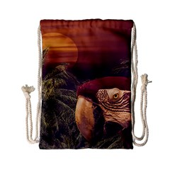 Tropical Style Collage Design Poster Drawstring Bag (Small)