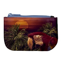 Tropical Style Collage Design Poster Large Coin Purse