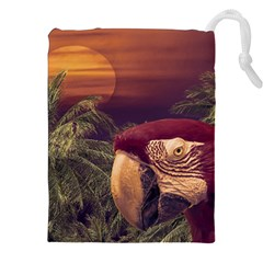 Tropical Style Collage Design Poster Drawstring Pouches (XXL)