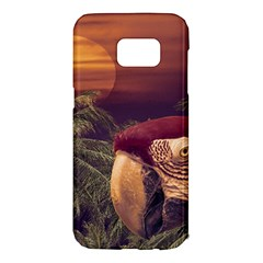 Tropical Style Collage Design Poster Samsung Galaxy S7 Edge Hardshell Case